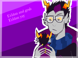Eridan and grub Eridan by honking-capricorn