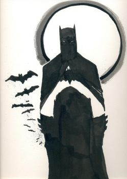 Batman Black and White by drewtjones
