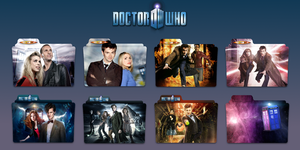 Doctor Who Series Folders by Gotham-Siren
