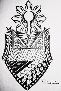 Filipino Tribal Arm Sleeve tattoo design by 808LSALVADOR