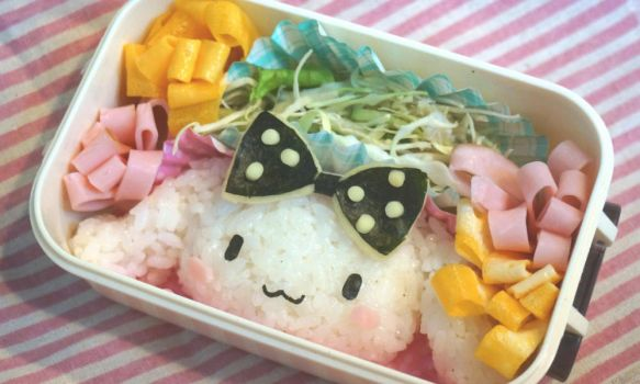 Cinnamoroll Bento (with tutorial) by minicuteclub