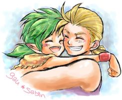 Gau and Sabin hugs by nekki