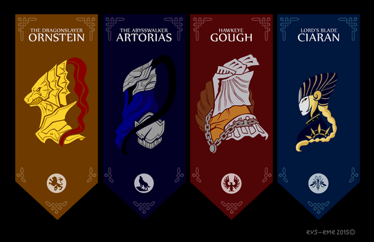 Four Knights of Gwyn by evs-eme