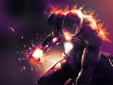 Iron Man by Wykelteria