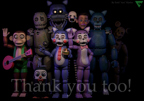 Five Nights at Candy's Thanks You To (FNAC2? WTF!) by TheSitciXD