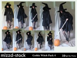 Gothic Witch Pack 4 by mizzd-stock