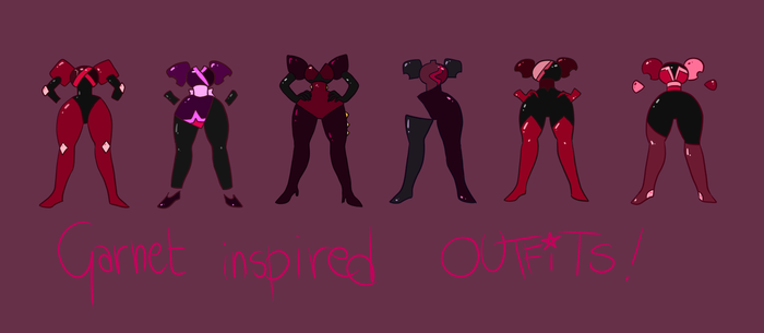 Steven Universe: Garnet-inspired outfits! by IsabelleVII