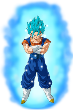 Vegetto Super Saiyan Blue (Aura) by Frost-Z