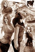 Naruto girls by RossoWinch