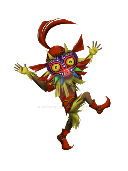 LoZ: Skull Kid by AevusAeon