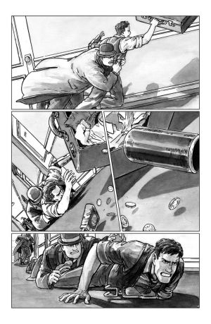 deadball noir comic pg4 chase scene by carbono14