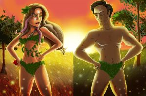 Epic Rap Battles of History: Adam Vs Eve Fan Art by SemajZ