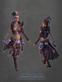 ArenaNet Art Test - Female Model Posed by Stoop--Kid