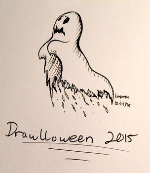 DRAWLLOWEEN 2K15: Ghost by Reaper-cussion