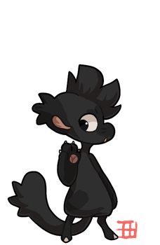 #625 MYO BB - Sprout - Black Mexican Wolf by griffsnuff