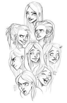 faces by Fukari