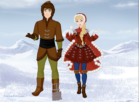 Hiccup and Astrid in Winter by Kailie2122