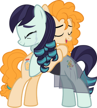 MLP Vector - Pear Butter and Coloratura (AU) by jhayarr23