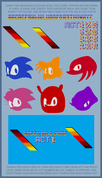 Custom Sonic Level Title Card by retrobunyip