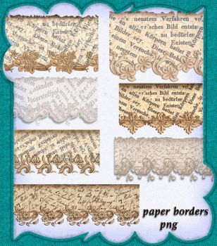 Paper Borders Png by roula33