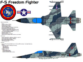 F-5 FREEDOM FIGHTER by bagera3005