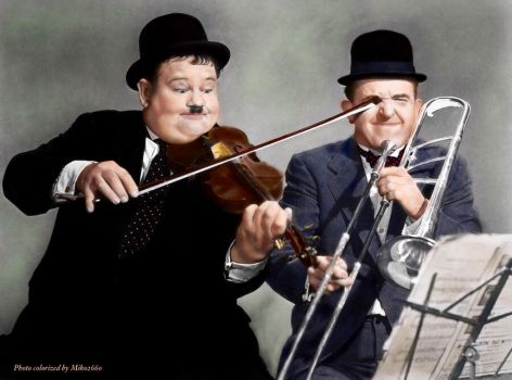 Laurel and Hardy colorization by Miko2660