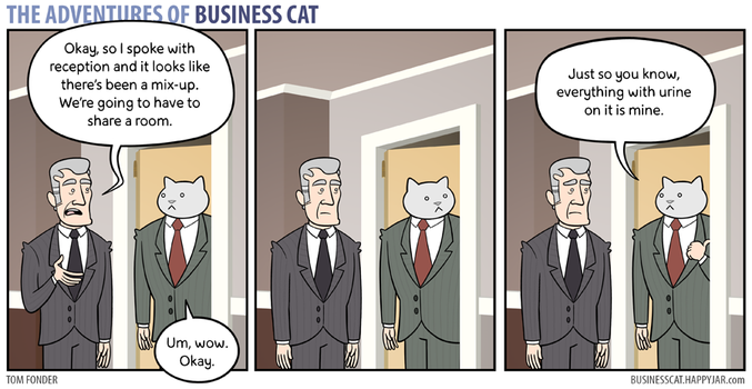 The Adventures of Business Cat - Mix-Up by tomfonder