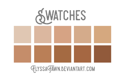 Swatches #2 Skin Tones by elyssafawn