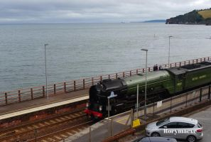 LNER 60163 'Tornado' at Dawlish by The-Transport-Guild