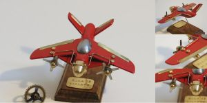 Steampunk Airplane Model - RCA-26 Sparrow by TCFK