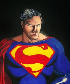 Superman's smile by markhossain