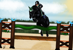 Demone - Show jumping Entry by SilviasDesires