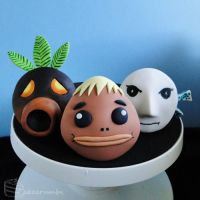 Majora's Mask: Mask Cupcake Set [Masks #1-3] by cakecrumbs