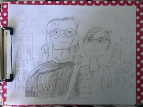 Giant Winter Soldier and Oracle in the big city by furstman