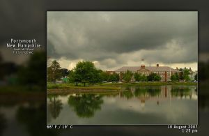 Thick Clouds Over the Pond - 1 by PhotographyByIsh