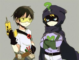 Toolshed and Mysterion by yoyterra