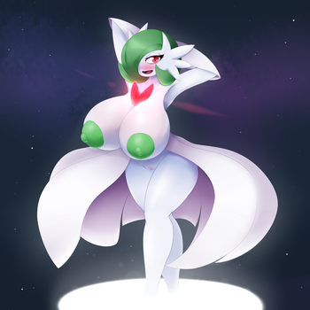 A very lewd Mega Gardevoir by Elfdrago