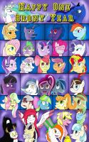 Happy One Year Brony by PapyJr13