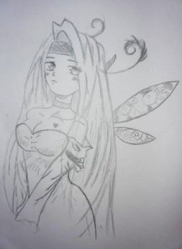 Old Drawings : a fairy by Libium