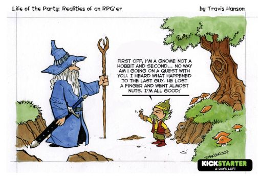 Wizards, hobbits, gnomes and quests - rpg comic by travisJhanson