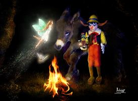 Pinocchio and his friends by Julianez