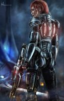 FemShepard - Mass Effect 3 by Hidrico