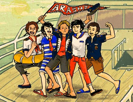 Arashi Sailor Boys by bombayeh