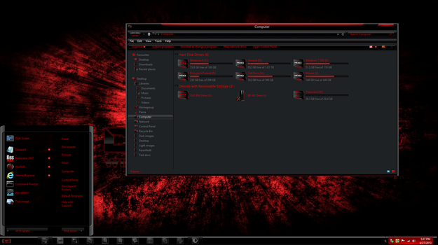 Windows 8 theme RazerRed8 Gold by TheBull1