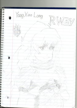 Sketch: Yang Xiao Long (RWBY) by spiral6sm