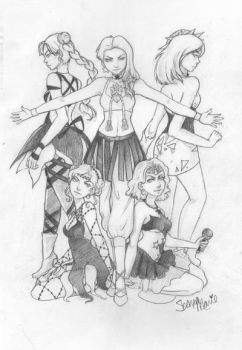 Witches 5 Pencil Drawing by shanalikeanna