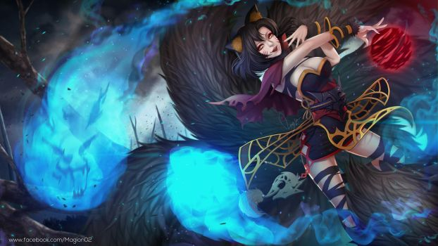 League of Legends Ahri by magion02