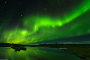 Northern Lights Reflection by Dave-Derbis