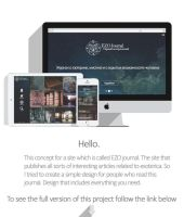 Ezo journal - the first esoteric journal. Concept. by Rmlk