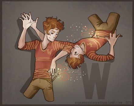 Fred and George Weasley by Himeco